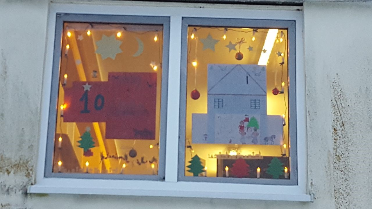 Fensterbild in der LEA Ellwangen